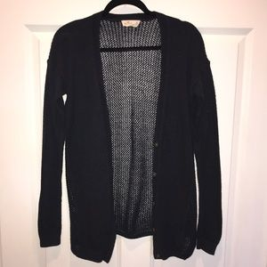 Hollister Navy Blue Sweater Cardigan Lace Back